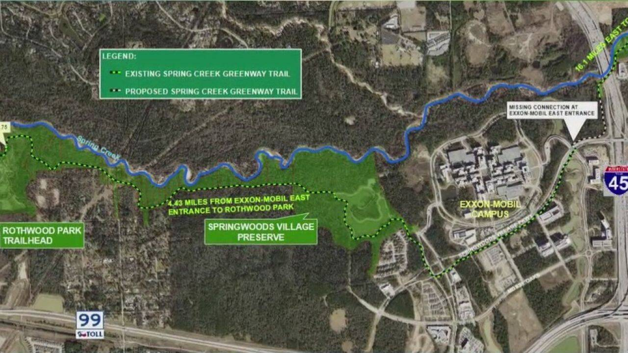 Four-Mile-Long Spring Creek Greenway Link to Open in City Place This Summer